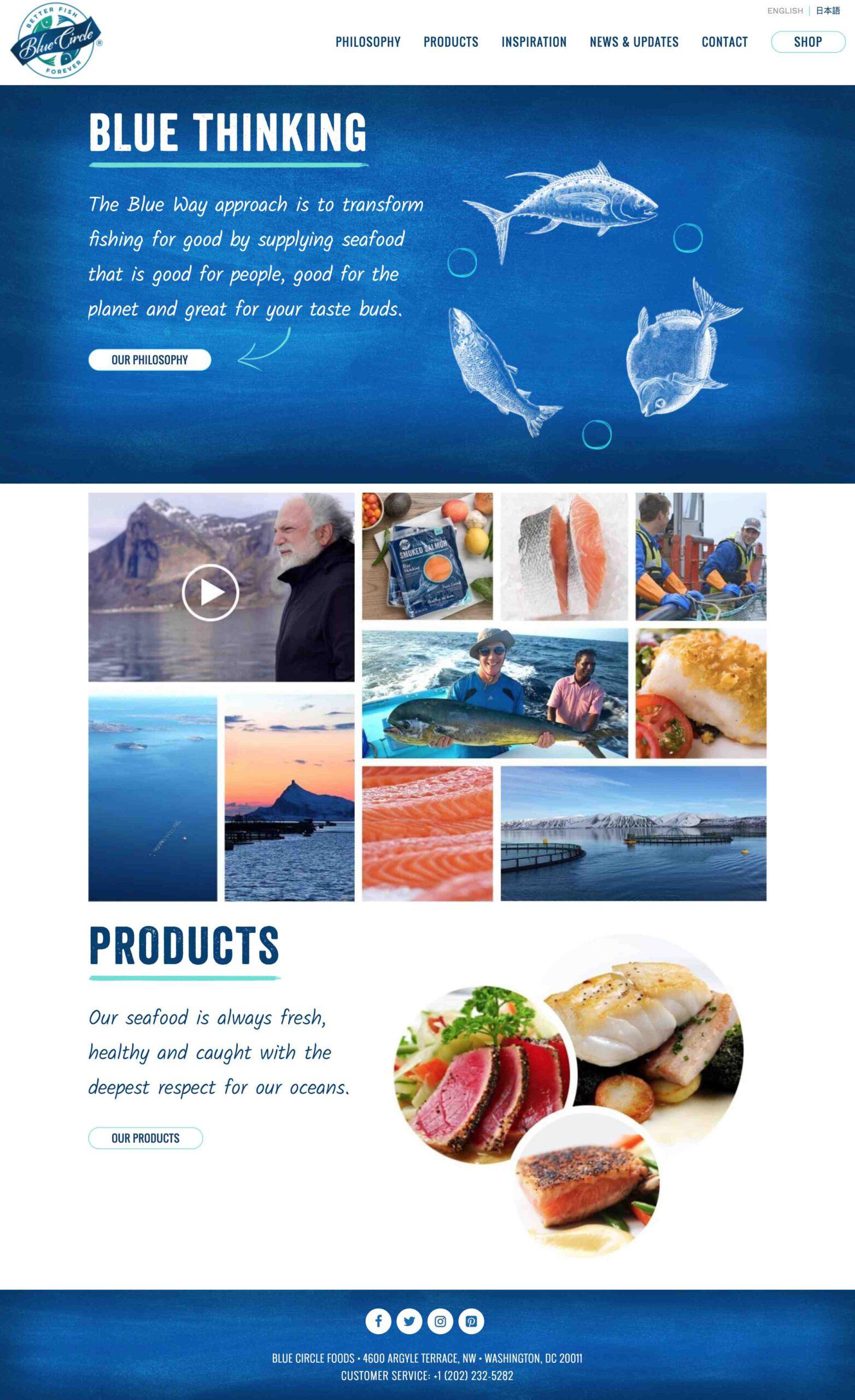 Blue Circle Foods website redesign