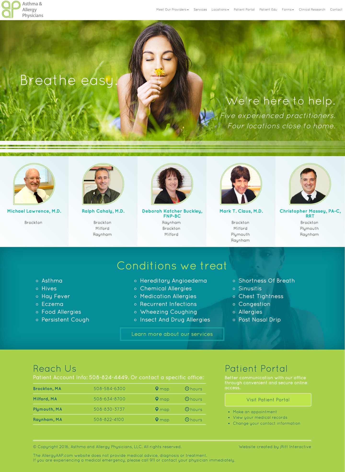 Medical site website and branding